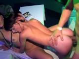Vidéo porno mobile : Hard threesome in a VIP bar
